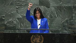 La vicepresidenta de Venezuela, Delcy Rodríguez en la Asamblea General de la ONU, Nueva York 27/9/2019
