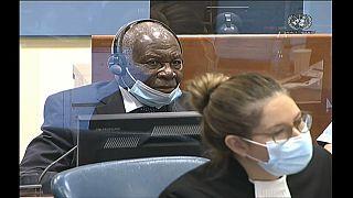 Félicien Kabuga lors de sa comparution devant les juges de La Haye, ce 11/11/2020 - capture d'écran d'une vidéo AFP