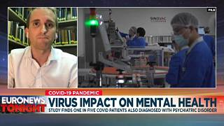 Dr Max Taquet speaking to Euronews Tonight