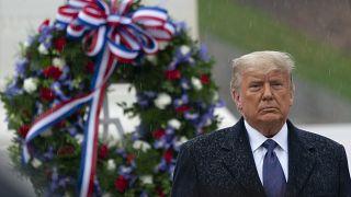 Trump e Biden al Veterans Day