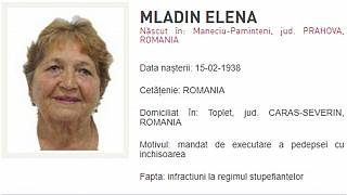 Elena Mladin's wanted picture
