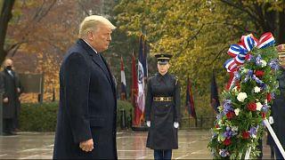 Première sortie publique de Donald Trump en l'honneur des vétérans