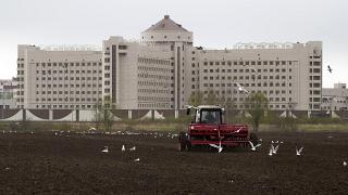 Exterior de una cárcel en San Petesburgo