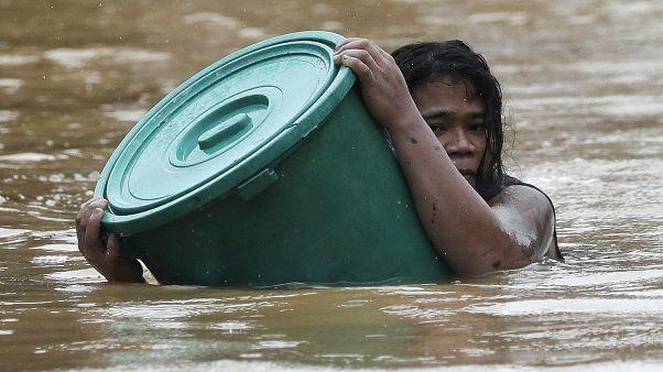 فیلیپین پس از طوفان وامکو گرفتار سیل است