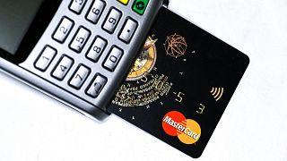 Bankkártya terminál és bankkártya