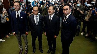 چهار نماینده عزل شده پالمان هنگکنگ