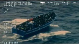 Boot mit Migranten