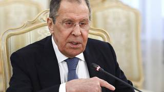 Russian Foreign Minister Sergey Lavrov addressed an online news conference.