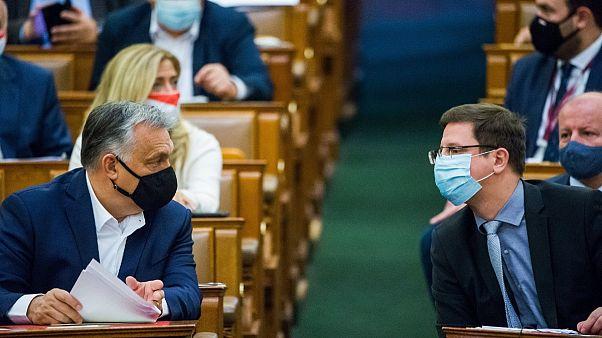 Orbán Viktor miniszterelnök és Gulyás Gergely kancelláriaminiszter