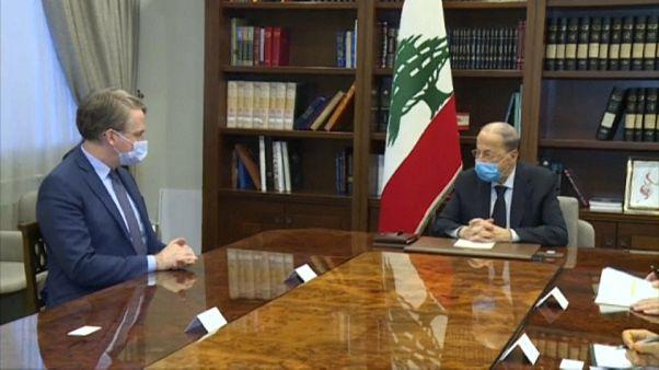 L'émissaire français Patrick Durel et Michel Aoun