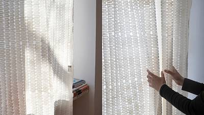 The fabric regulates room temperatures.