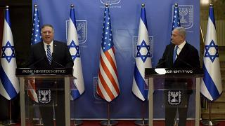 Pompeo in a previous visit at Israel