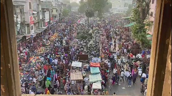 Mercado em Nova Deli