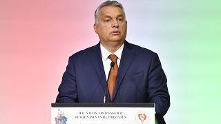 Orbán Viktor beszédet mond 2020. október 17-én