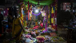Starßenhändler in Neu Delhi