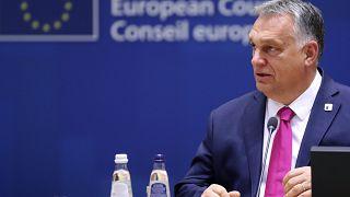 Премьер-министр Венгрии Виктор Орбан на саммите ЕС в октябре