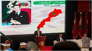 من اجتماع لأحزاب مغربية في مدينة العيون في الصحراء الغربية