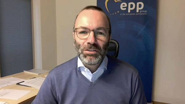 Manfred Weber, German head of EPP group in he European Parliament, talking to Euronews.