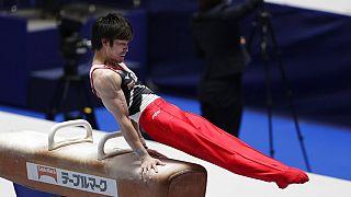 Tokyo'da düzenlenen olimpiyatların provası niteliğindeki spor turnuvasından bir kare.