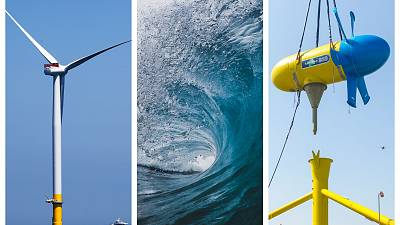 There are three main sources of offshore renewables: wind, waves and tides.