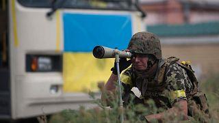 سرباز ارتش اوکراین در منطقه دونباس