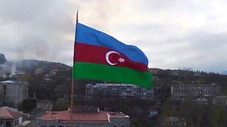 پرچم جمهوری آذربایجان در قرهباغ