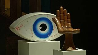 "Man Ray's ""Le Temoin"" on show at the Caixaforum in Madrid"