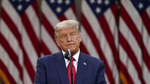 الرئيس الأميركي المنتهية ولايته دونالد ترامب في البيت الأبيض
