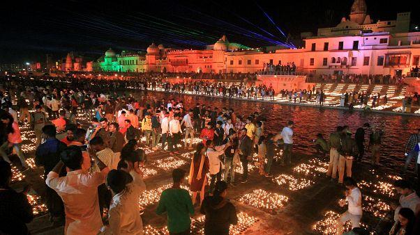 Világrekorddal ünnepelte India a fények ünnepét