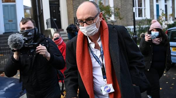 Dominic Cummings leaves his residence in London on November 13, 2020, the day he effectively quit as special adviser to Prime Minister Boris Johnson..