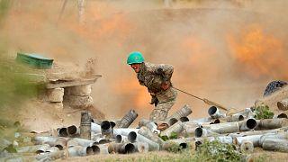 Çatışmalarda bir Ermeni askeri