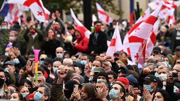 Választási csalás miatt tüntettek a grúz fővárosban