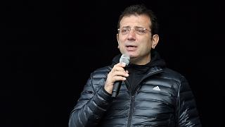 İBB Başkanı Ekrem İmamoğlu 42. İstanbul Maratonu sonrası konuşurken