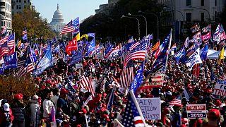 تظاهرات حامیان ترامپ در واشنگتن