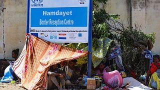 مخيم للاجئين في منطقة حمدايت الحدودية بولاية كسلا شرق السودان  12 نوفمبر 2020.