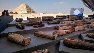 تابوتهای باستانی کشفشده در مصر