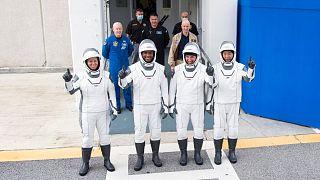 چهار فضانوردی که قرار است با فضاپیمای «اسپیس ایکس» به فضا بروند