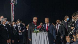 Ο Ρετζέπ Ταγίπ Ερντογάν και ο Ερσίν Τατάρ στην περίκλειστη Αμμόχωστο