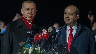 Cumhurbaşkanı Erdoğan ve mevkidaşı Tatar