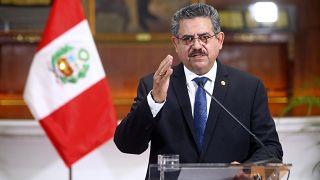 Peru'da halk protestoları nedeniyle istifasını veren geçici Devlet Başkanı manuel Merino