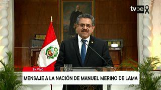 Le président par intérim du Pérou Manuel Merino annonce sa démission