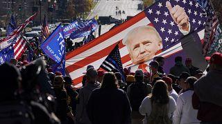 Демонстрация сторонников Трампа, Вашингтон, 14 ноября