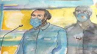 Croquis d'Ayoub El Khazzani au procès