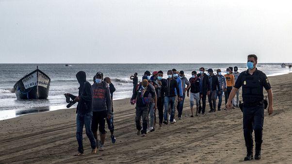 Migrants débarquant aux Canaries, 20 octobre 2020