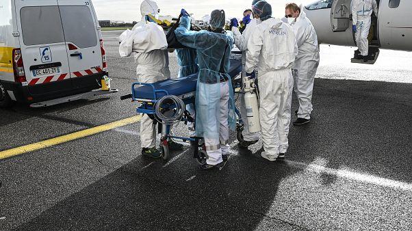 Un patient tranféré depuis l'aéroport de Bron