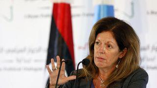 ستيفاني ويليامز خلال مؤتمر صحفي في تونس العاصمة - تونس