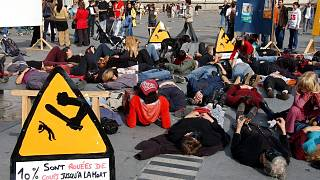 Fransa'da kadına şiddet protestosu