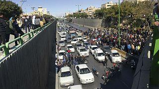 اعتراض به گرانی بنزین در تهران، آبان ۱۳۹۸