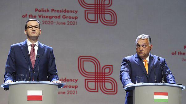 A lengyel és a magyar kormányfő Brüsszelben
