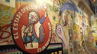 Mural del museo del Estallido Social en Chile